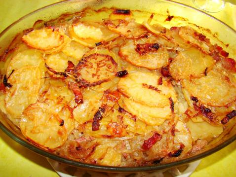 recette - pommes de terre à la boulangère   750g
