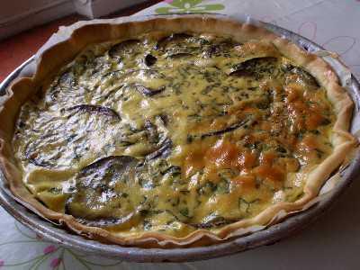 Tarte saumon aubergine