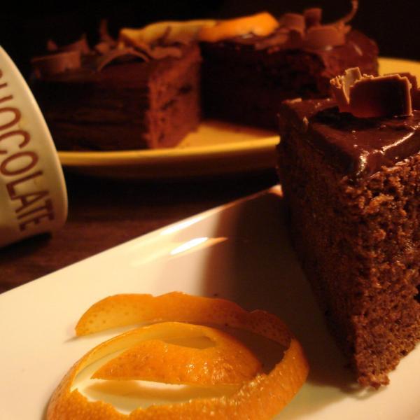 Gateau a base d'orange et chocolat