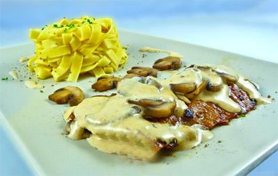 4a0a89cdd16 Recette - Escalope de veau et champignons à la crème