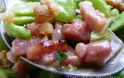 Recette Salade De Feves Aux Lardons Et Aux Noix 750g