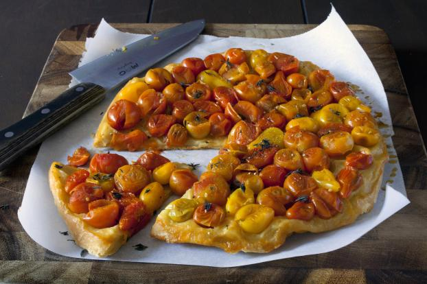 recette tatin de tomates cerises chaudes 750g. Black Bedroom Furniture Sets. Home Design Ideas