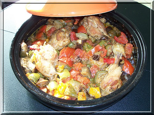 Recette tajine de poulet la ratatouille 750g - Cuisiner la ratatouille ...