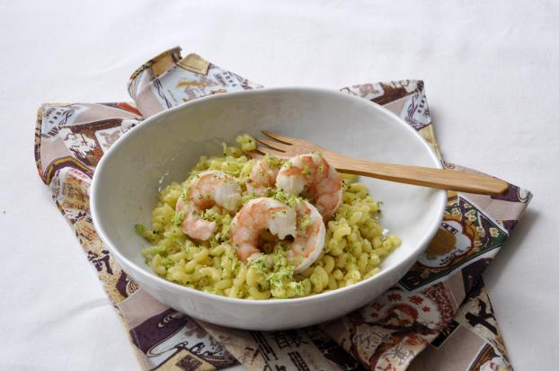 Recette risotto de coquillettes au bouillon de crustac s - Cuisiner gambas surgelees ...