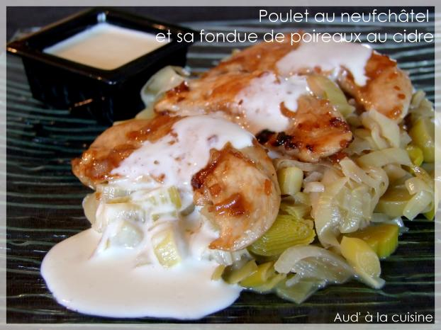 Recette poulet au neufch tel et sa fondue de poireaux au cidre 750g - Comment cuisiner le poireau ...