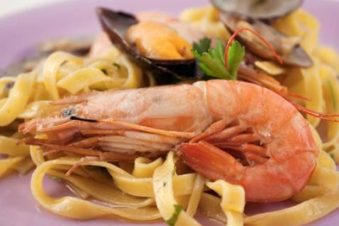 Recette tagliatelles aux fruits de mer classiques 750g - Tagliatelles aux fruits de mer recette italienne ...