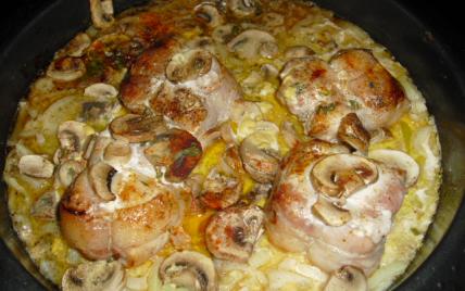 Recette paupiettes de dinde aux champignons not e 4 3 5 - Cuisiner des paupiettes ...
