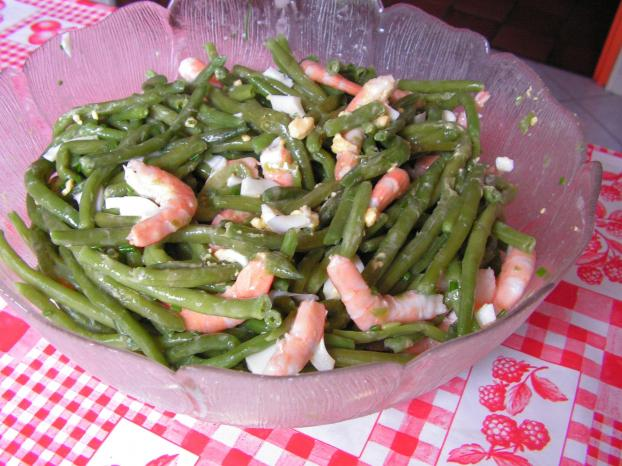 recette salade de haricots verts aux crevettes 750g. Black Bedroom Furniture Sets. Home Design Ideas