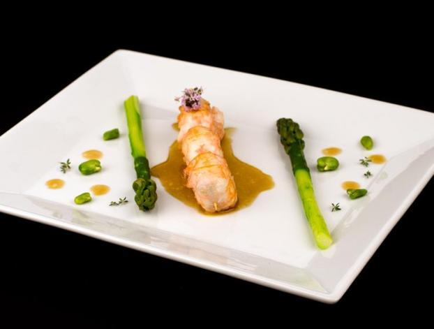 Recette langoustines r ties aux asperges vertes jus - Cuisiner des asperges fraiches ...