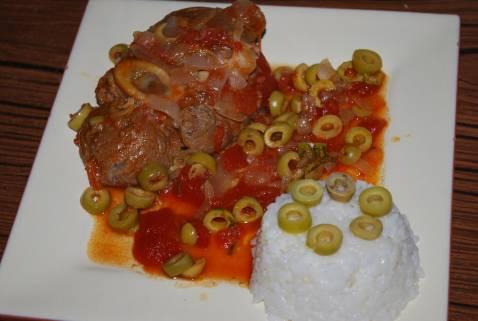 Recette jarret de veau aux olives 750g - Cuisiner un jarret de veau ...