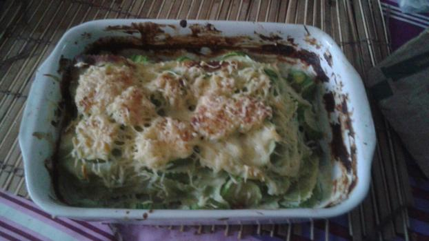 recette gratin de courgettes aux ravioles de romans 750g. Black Bedroom Furniture Sets. Home Design Ideas