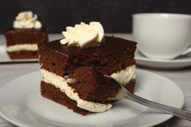 Gateau vanille et chocolat