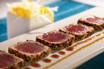 recette tataki de thon rouge au s same et th vert la menthe 750g. Black Bedroom Furniture Sets. Home Design Ideas