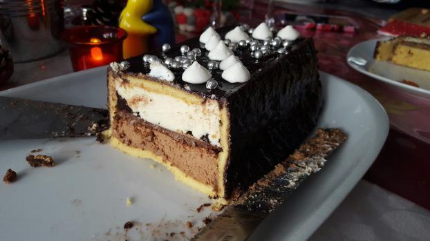 Buche aux trois chocolat