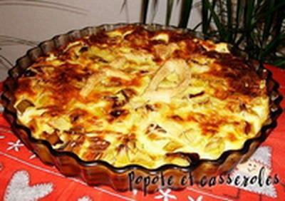 Recette tarte moiti sans p te la truite fum e et aux blancs de poireaux 750g - Tarte aux poireaux sans oeufs ...
