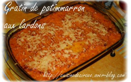recette gratin de potimarron aux lardons 750g. Black Bedroom Furniture Sets. Home Design Ideas