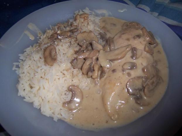 Recette escalope de dinde avec riz aux champignons 750g - Cuisiner escalope dinde ...