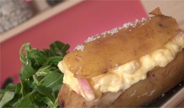recette pommes de terre farcies fa on carbonara en vid o. Black Bedroom Furniture Sets. Home Design Ideas