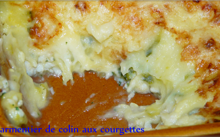 recette parmentier de colin aux courgettes 750g. Black Bedroom Furniture Sets. Home Design Ideas