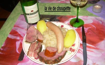 Recette choucroute alsacienne traditionnelle 750g - Recettes cuisine alsacienne traditionnelle ...