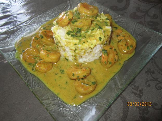 Recette crevette curry et riz blanc 750g - Cuisiner du riz blanc ...