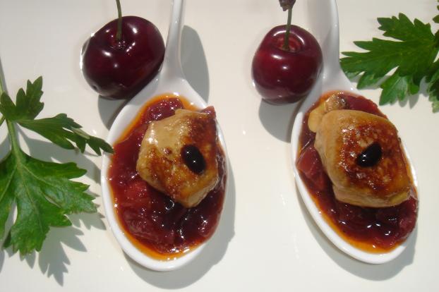 recette brisures de foie gras et chutney aux cerises pour ap ritif gourmand 750g. Black Bedroom Furniture Sets. Home Design Ideas