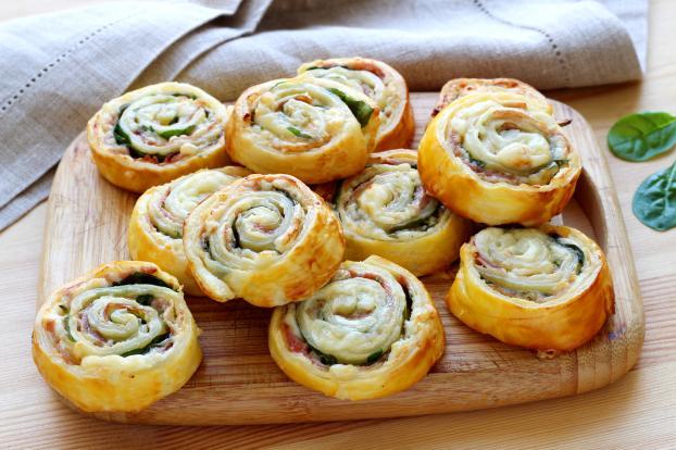 Recette Escargots Feuilletes Au Jambon Et Au Fromage En Pas A Pas