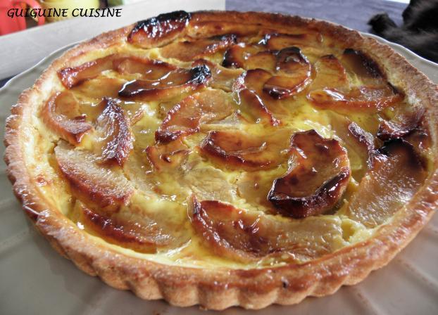 Recette tarte normande aux pommes 750g - Recette tarte au pomme normande ...
