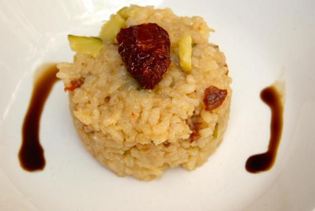 Recette risotto aux courgettes et tomates s ch es 750g - Risotto tomate thermomix ...