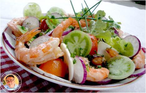 Recette salade originale terre et mer 750g for Salade entree originale