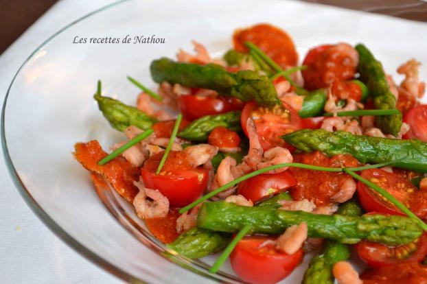 Recette asperges vertes aux crevettes grises - Cuisiner les asperges vertes ...
