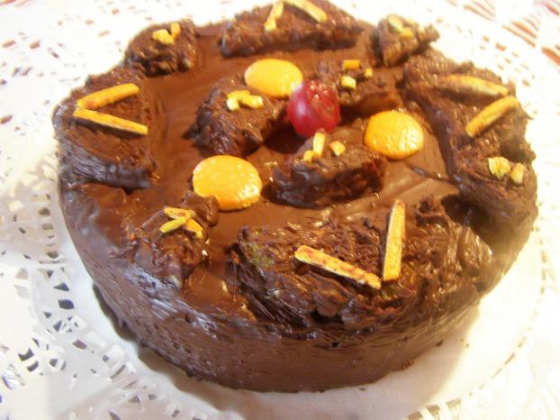 Recette g teau sans farine aux amandes glac au chocolat 750g - Gateau au chocolat sans farine ...