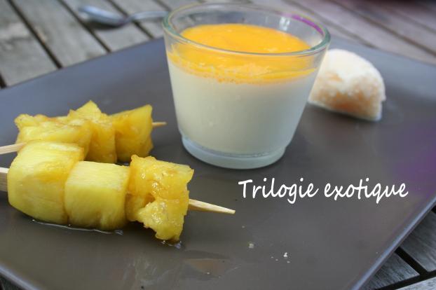 trilogie de desserts exotiques
