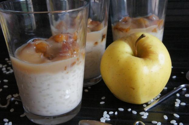 recette riz au lait pommes saut es et caramel au beurre. Black Bedroom Furniture Sets. Home Design Ideas