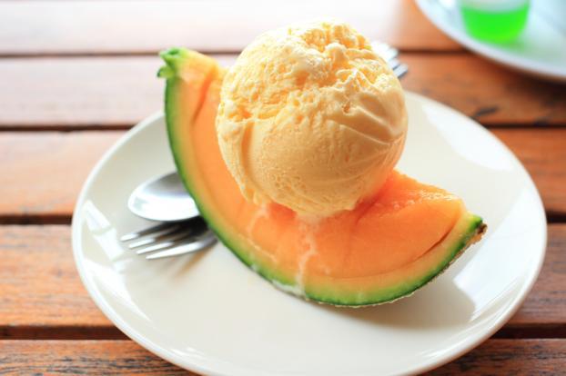 Recette glace au melon not e 4 2 5 - Glace au melon avec sorbetiere ...