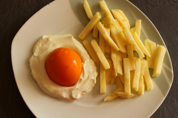 recette oeuf sur le plat avec frites mais sucr 750g. Black Bedroom Furniture Sets. Home Design Ideas