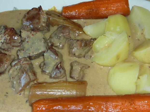 Recette Blanquette De Porc A La Moutarde A L Ancienne 750g