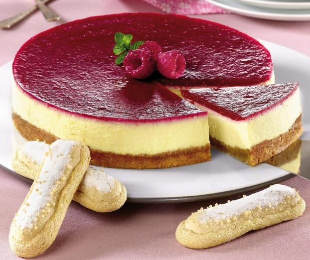 recette le cheese cake au coulis de framboises 750g. Black Bedroom Furniture Sets. Home Design Ideas