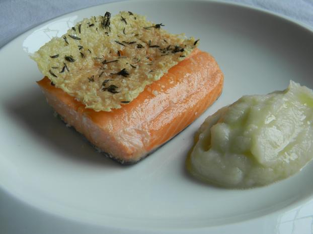 recette saumon de norv ge confit l 39 huile d 39 olive pur e chou fleur l 39 huile d 39 olive parfum e. Black Bedroom Furniture Sets. Home Design Ideas