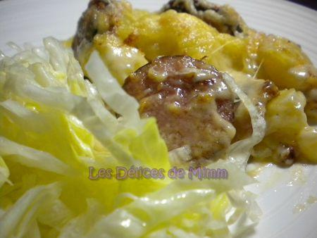 Recette gratin de pommes de terre au comt et la - Cuisiner saucisse de morteau ...