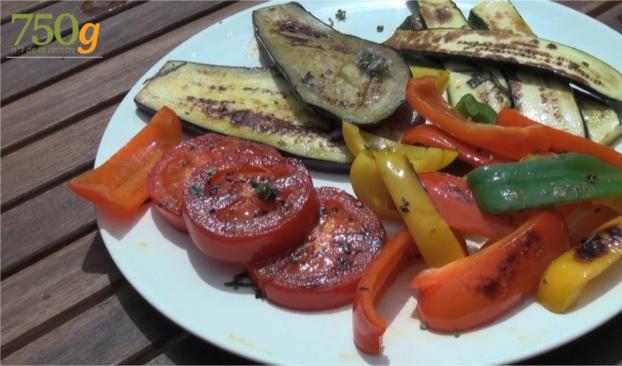 Recette l gumes grill s la plancha en vid o for Legumes a la plancha