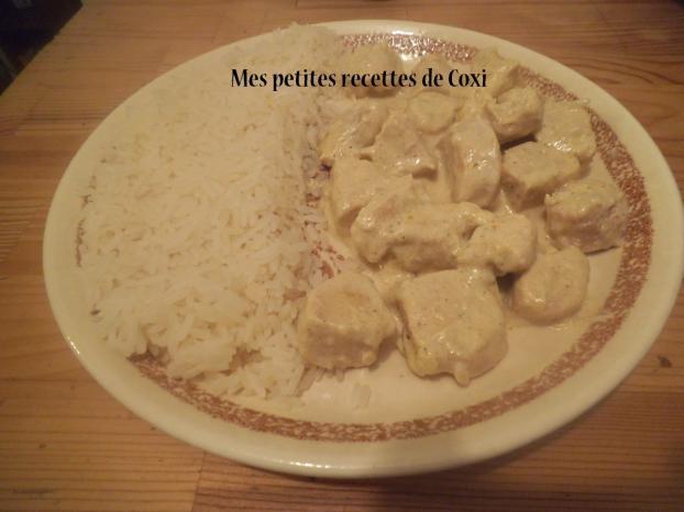 Recette filets de poulet au curry et son riz blanc 750g - Cuisiner du riz blanc ...