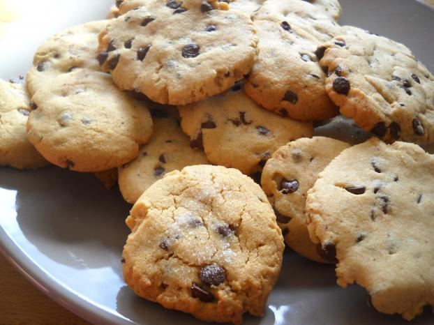 recette cookies au beurre de cacahu te et aux p pites de. Black Bedroom Furniture Sets. Home Design Ideas