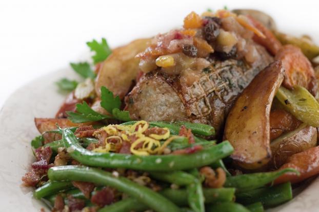 Recette Roti De Porc Aux Lardons 750g