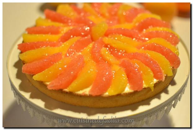 Tarte citron orange sanguine
