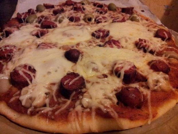 recette pizza au merguez 750g. Black Bedroom Furniture Sets. Home Design Ideas