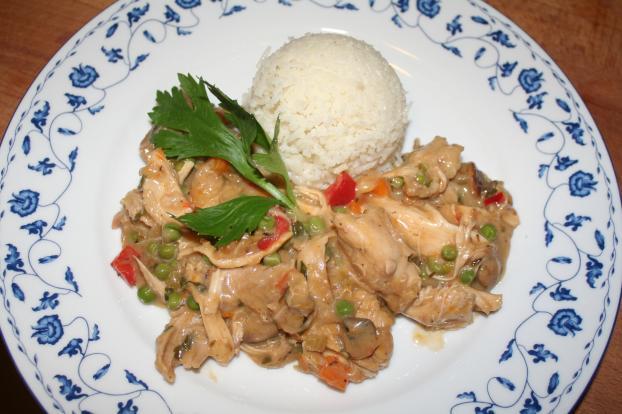 mijotee de poulet au riz et aux legumes