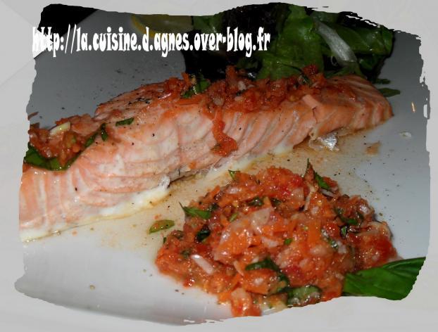 Recette pav de saumon aux saveurs printani res 750g - Cuisiner un pave de saumon ...
