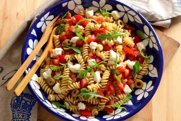 Recette salade de p tes comme en italie en pas pas - Idee repas barbecue ...