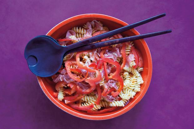 Recette Salades De Pates Fraich Attitude Au Poivron Et Au Jambon
